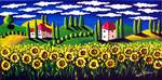 Field of Sunflowers Posters