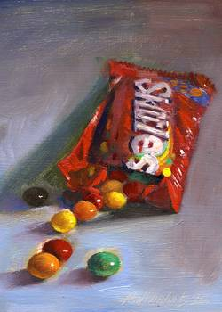 Skittles Candy by artist Hall Groat II. Giclee prints, art prints, a still life, fine art print; from an original oil painting