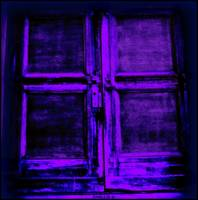 a deep purple cross door