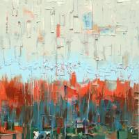 """Blue and Orange Collage"" by WorldofDaisy"