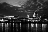 Night falls on St Paul's