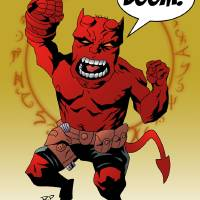 Hellboy Junior Art Prints & Posters by Roy Pyper