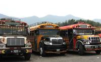 Painted Buses in Antigua, Guatemala
