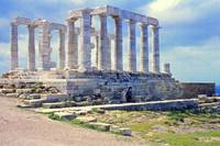 Remains, Temple of Poseidon, Sounion, Greece 1960 by Priscilla Turner