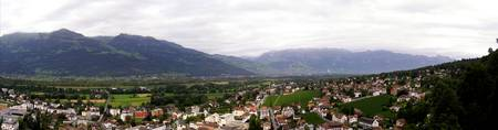Panorama of Vaduz