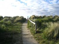Scotland  'Path to Findhorn beach'