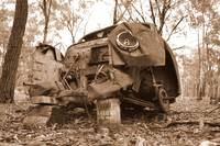 Wrecked - in sepia