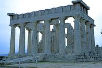 Temple of Aphaia, Aegina, Spring Evening 2003 13 by Priscilla Turner