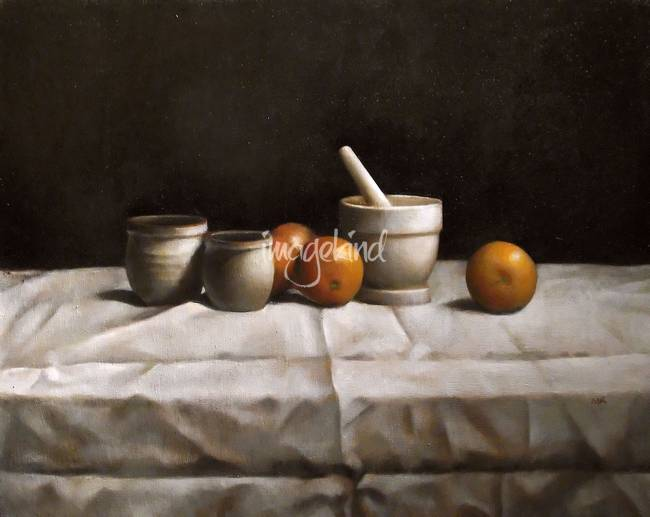 Matthew Kinsey- Still Life with Oranges