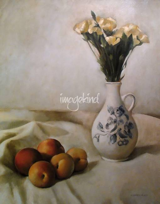 Still Life with Carnations, Jug and Peaches