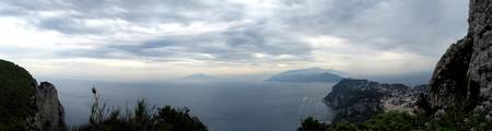 The Bay of Naples on a Cloudy Day