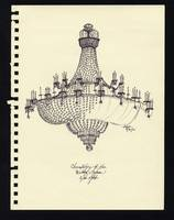 Sketchbook; chandelier