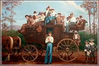 Western Stagecoach Wall Mural