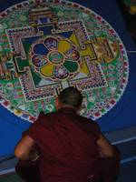 Tibetan Monk Creating Peace Mandala in Tallahassee