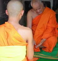 Young Monk Prepares for Ordination
