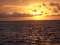 Sunrise on Utila,Bay Islands, Honduras