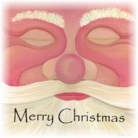 Red Santa Face - Merry Christmas