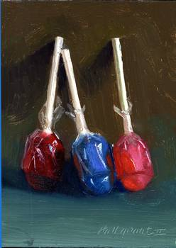 Lollipops by artist Hall Groat II. Giclee prints, art prints, a still life, fine art print; from an original oil painting