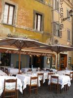 Italian Cafe with Rustic Building