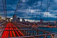 Red Lights on Brooklyn Bridge
