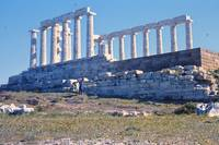 Remains, Temple of Poseidon, Sounion, Greece by Priscilla Turner