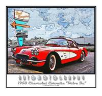One 1958 Corvette and a Cheesburger To Go
