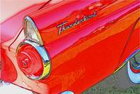 1956 Thunderbird Tailfin Red