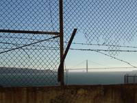 View of Golden Gate Bridge from Alcatraz