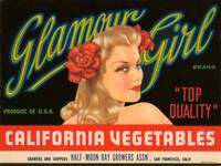 Glamour Girl California Vegetables Fruit Crate Lab