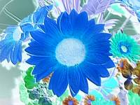 Embossed & Alive - flower collage cool blue