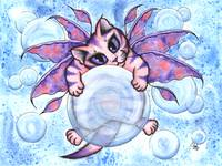 Bubble Fairy Kitten , Winged Fairy Cat