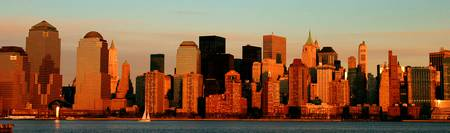 DOWNTOWN NEW YORK SKYLINE by Walter Paul Bebirian