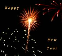Fireworks New Years Card