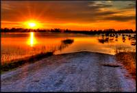 Sunrise Over Flood Waters 2