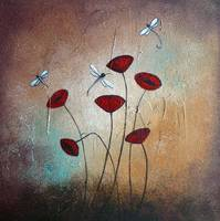 Dragonflies and Poppies