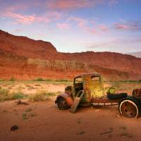 Old Truck in the Desert Art Prints & Posters by Sarah Neal