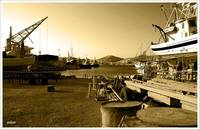 Daybreak in the boatyard III