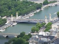 An Aeriel View of Paris and The River Seine