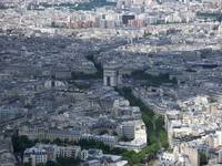 The Arc De Triomphe as viewed from the top of the