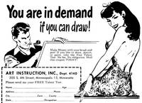 Artist in Demand, 1950 mail-order ad