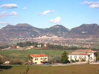 Town of Gubbio from opposite side of valley