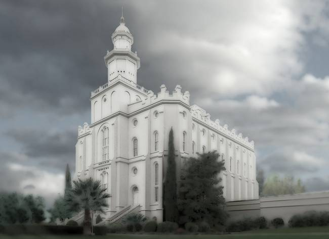 St George Temple Large-16x22-tinted