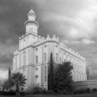 """""""St George Temple Large-16x22-BW"""" by TerrySpringer"""