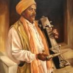 A JOGI - INDIAN INSTRUMENT PLAYER Prints & Posters