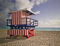 the patriotic Life Guard Stand
