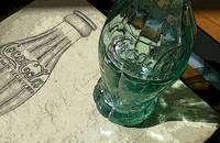 Earl R. Dean's Bottle Sketch & Prototype Bottle