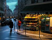 Winter Evening In The Marais