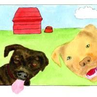 Pitbulls Art Prints & Posters by Jim Campiche