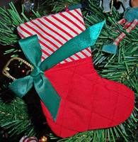 Xmas stocking hanging ornament