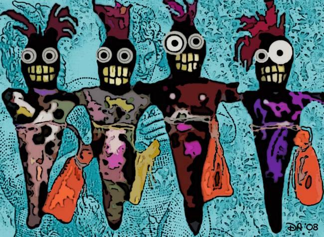 Four New Orleans Voodoo Dolls By Voodoomama 2008